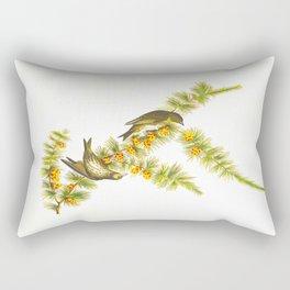 Pine Finch Bird Rectangular Pillow
