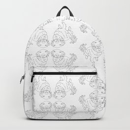 Golden Retriever Dog Pattern Illustration Backpack