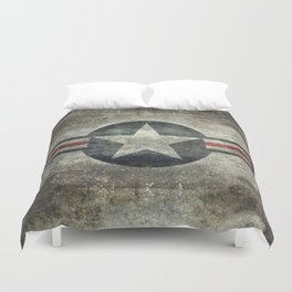 US Air force style insignia V2 Duvet Cover