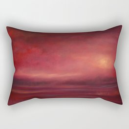 Scarlet Mist Rectangular Pillow