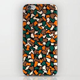 Autumn Tones Wobbly Mosaic Tiles iPhone Skin