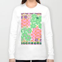 les mis Long Sleeve T-shirts featuring Les Fleurs by Pink Pagoda Studio / Barbara Perrine Chu