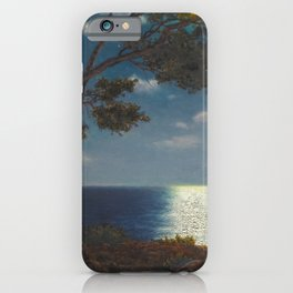 Classical Masterpiece 'Moonlight on the Water' by Ivan Fedorovich Choultsé iPhone Case