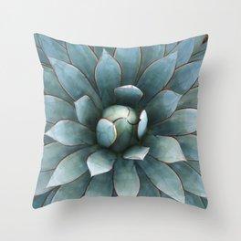 Tranquil Blue Glow Throw Pillow
