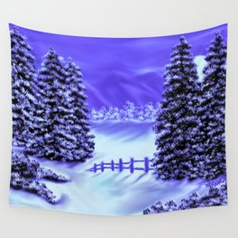 Moon Over The Mountain Wall Tapestry