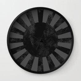 Black Japan Empire Flag Wall Clock