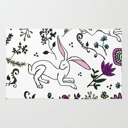 Spring Hare Rug