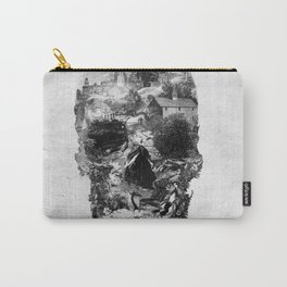 Town Skull B&W Carry-All Pouch