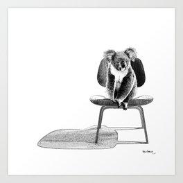 Koala on eames chair Art Print