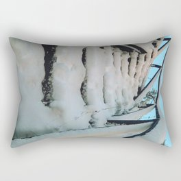 Snowy stairway Rectangular Pillow