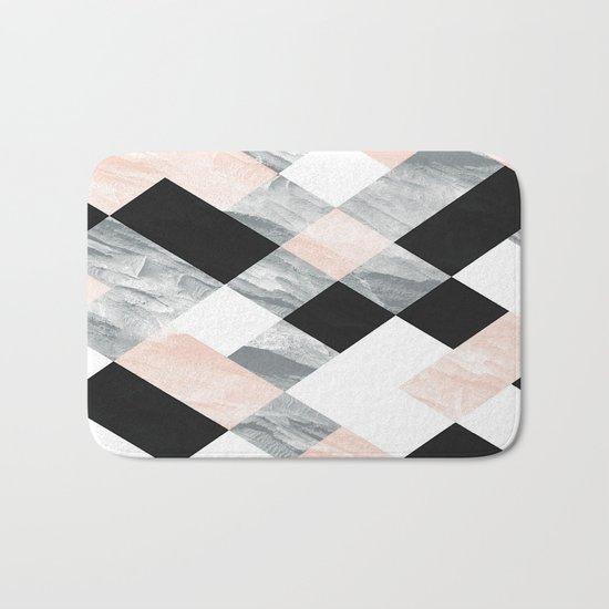 Pastel Scheme Geometry Bath Mat
