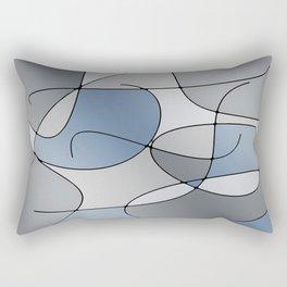 ABSTRACT CURVES #1 (Grays) Rectangular Pillow
