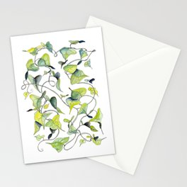 Blue and Green Vines, Pattern Stationery Cards