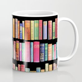 Vintage Book Library for Bibliophile Coffee Mug