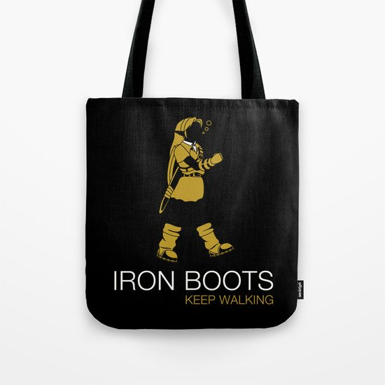 Iron Boots Tote Bag