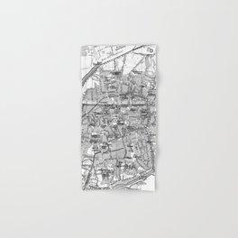 Vintage Map of Bruges (1905) BW Hand & Bath Towel