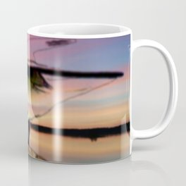 Sunset Take-off - Gull Painted with Sunset Colors Coffee Mug