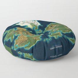 Final Fantasy VII - Shinra Airways World Map Floor Pillow