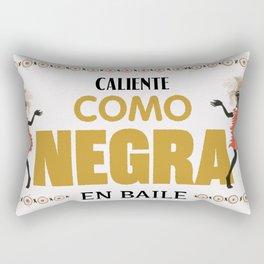 Caliente como negra en baile Rectangular Pillow