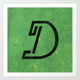 Letter D - Letter A Day Project Art Print
