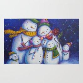 Snow Family Portrait Rug