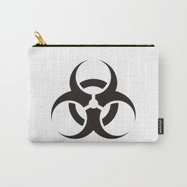 White Biologic Hazard Warning signal Carry-All Pouch