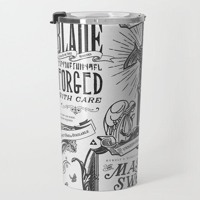 Legend of Zelda Vintage Master Sword Advertisement Travel Mug