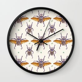 flying Goliathus Wall Clock