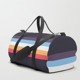 Ujisato - Classic Colorful Retro Stripes Duffle Bag