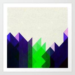 Green Peaks Art Print