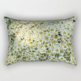 White Daises Rectangular Pillow