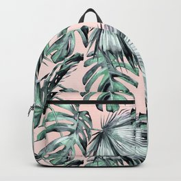 Island Love Coral Pink + Green Backpack