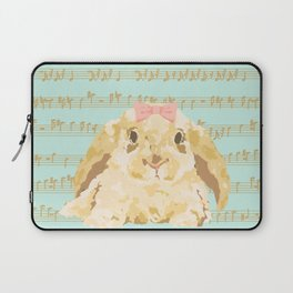 Bunny Composition (gold/mint) Laptop Sleeve