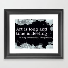 Fleeting Framed Art Print
