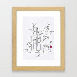 Telegraph pole forest. Framed Art Print