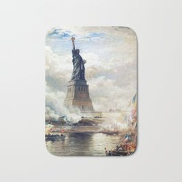 Statue of Liberty Unveiling Bath Mat