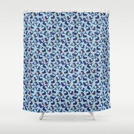 Narwhal Dance Shower Curtain
