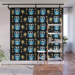 Owl Pattern Wall Mural