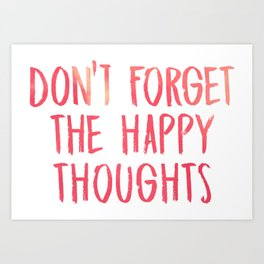 Chance the Rapper - Don't forget the happy thoughts Art Print