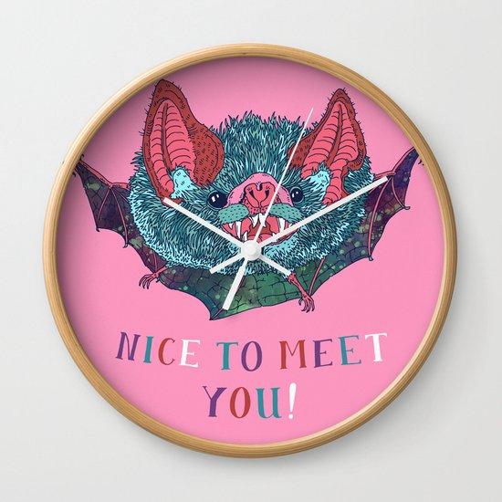 Nice to Meet You! Wall Clock