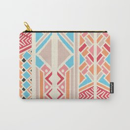 Tribal ethnic geometric pattern 033 Carry-All Pouch