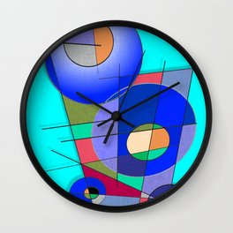 Les Bouclier Bleu Wall Clock