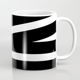 Abstract black & white Lines Stripes Pattern - Mix and Match with Simplicity of Life Coffee Mug