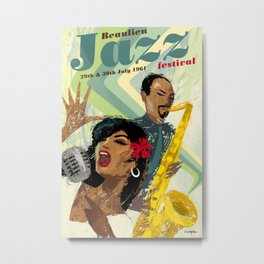 1960's style Jazz poster Metal Print