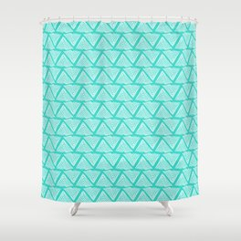 Lagos: Aqua Tiles Shower Curtain