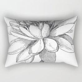 Vintage Lotus Flower Rectangular Pillow