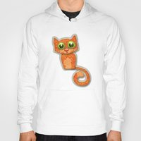 fabric Hoodies featuring Fabric Cat by Tatyana Adzhaliyska