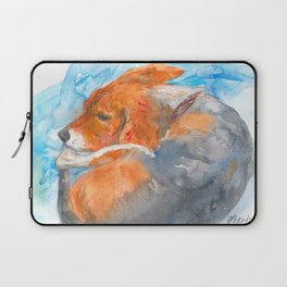 Sleeping Beagle Laptop Sleeve