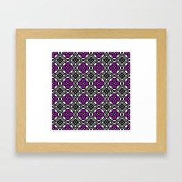 Purple stained glass flower Framed Art Print
