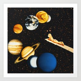 Planetary dream Art Print
